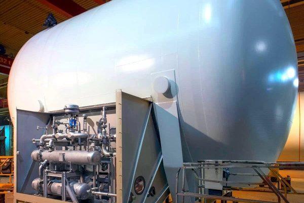 West Welding's LNG storage tank